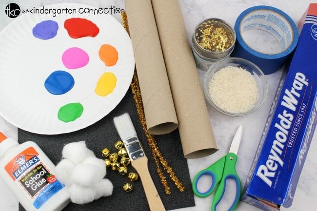Rainbow Rain Stick Craft Supplies