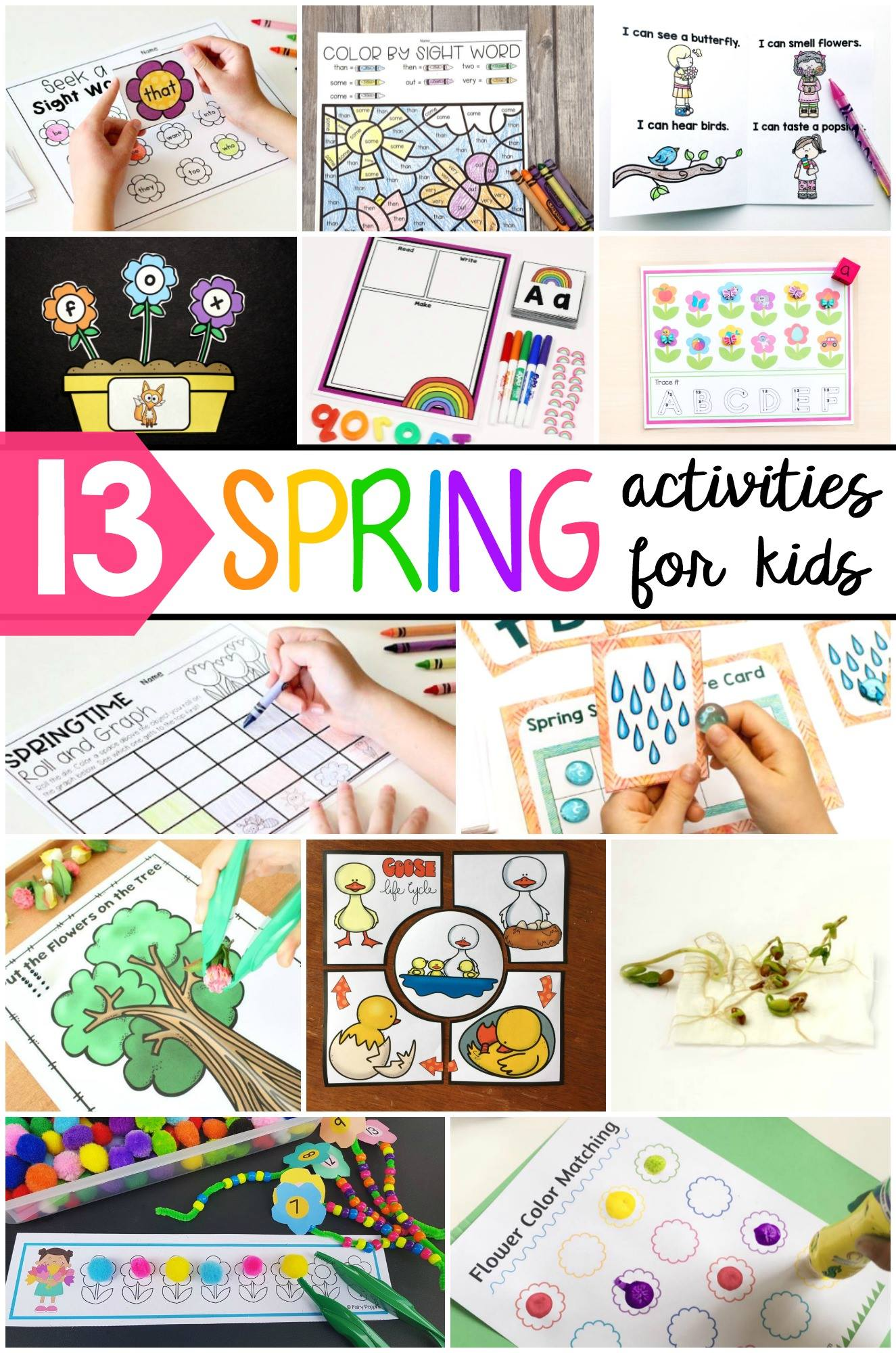Spring printables and activities for kids!