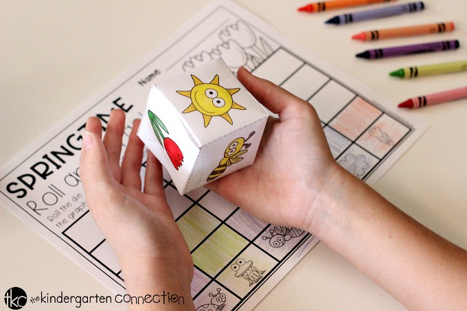 Roll and Graph FREE Printable Spring Math Activity