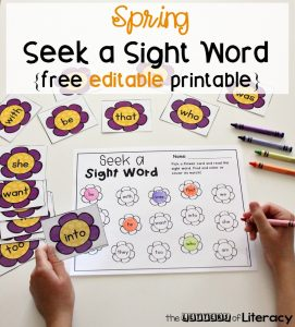 Spring Seek a Sight Free Editable Printable