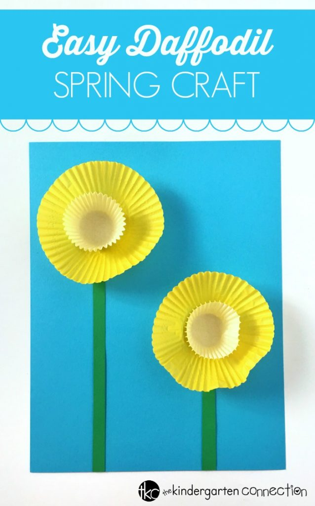 Easy Daffodil Spring Craft with Kids