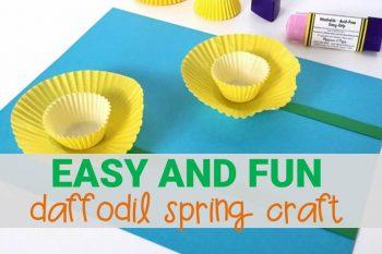 Easy Daffodil Spring Craft