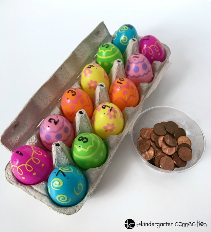 Simple Easter Egg Counting Activity