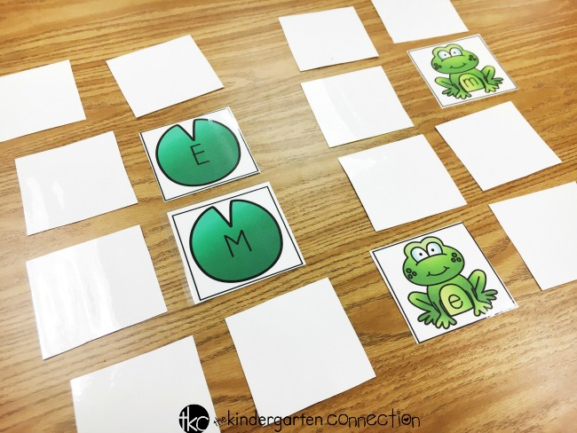 Frog letter activities - letter matching memory