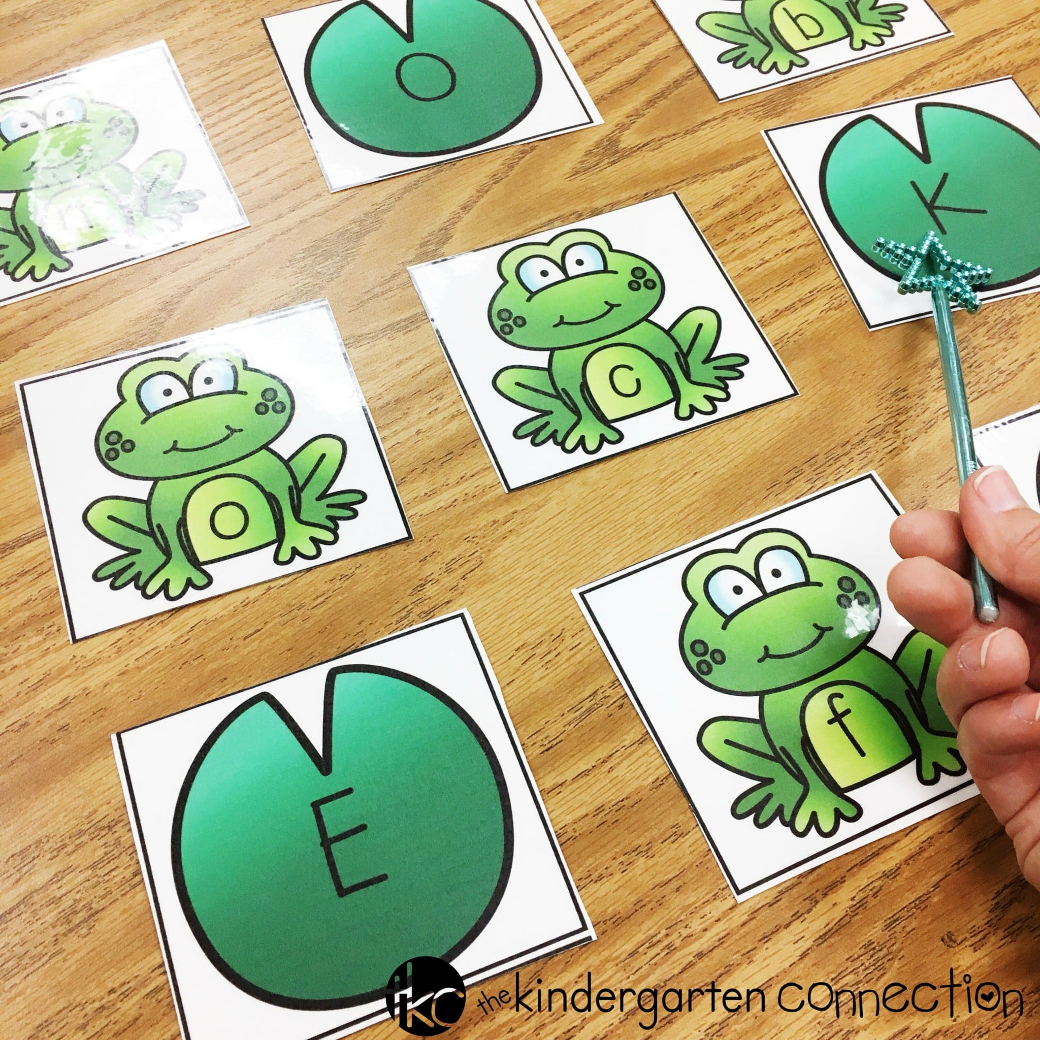 Frog letter activities - swat the letter with a wand!