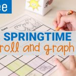 spring roll and graph math activity