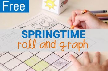 Roll and Graph Spring Math Activity