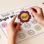 Editable Spring Sight Word Game