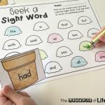 Editable Ice Cream Cone Printable Sight Word Game, literacy center, seek a sight word