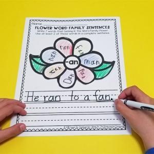Flower Word Family Sentences