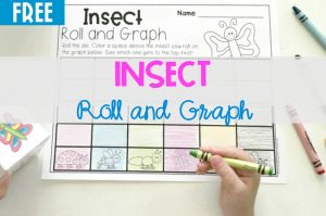 Insect Roll and Graph Math Activity