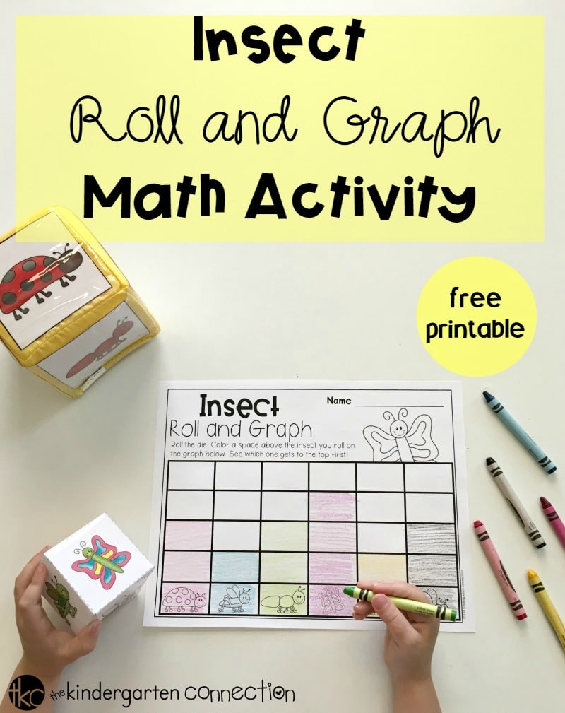 Insect Roll and Graph Math Activity, free printable