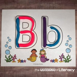 Mermaid Play Dough Abc Mats Square The Letters Of Literacy