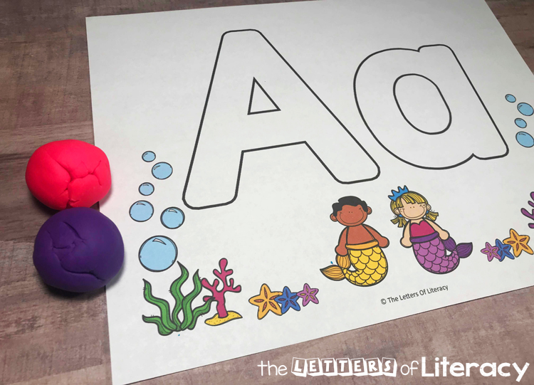 Free Mermaid Full Alphabet Play Dough Mats - The Letters Of Literacy