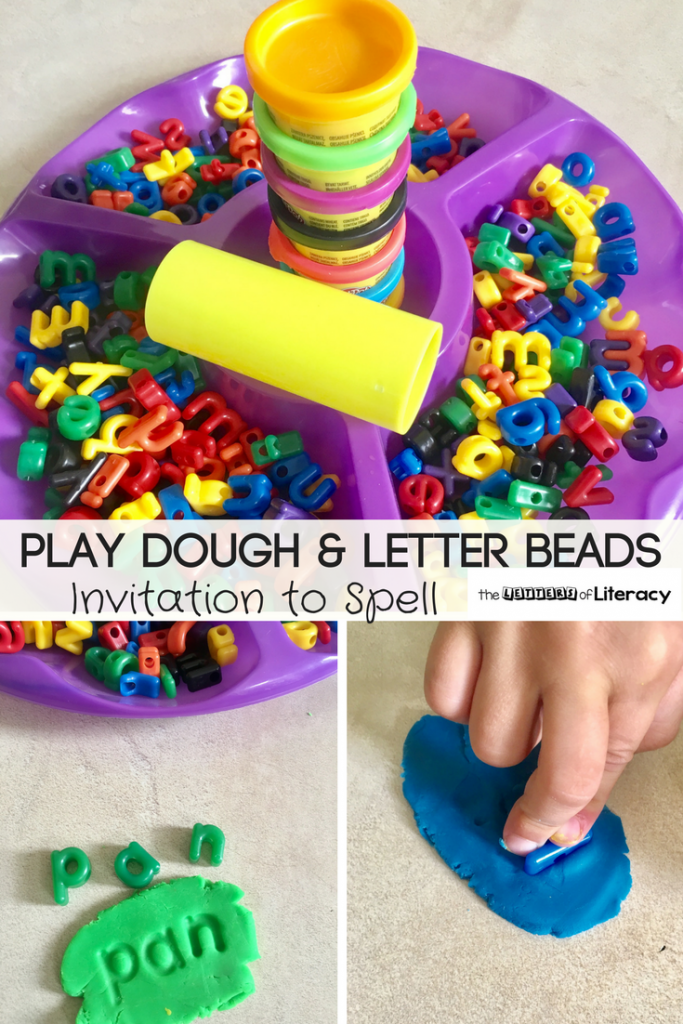 This Play Dough Letters Spelling Activity not only works fine motor muscles but it challenges our students to practice spelling words in a whole new way!