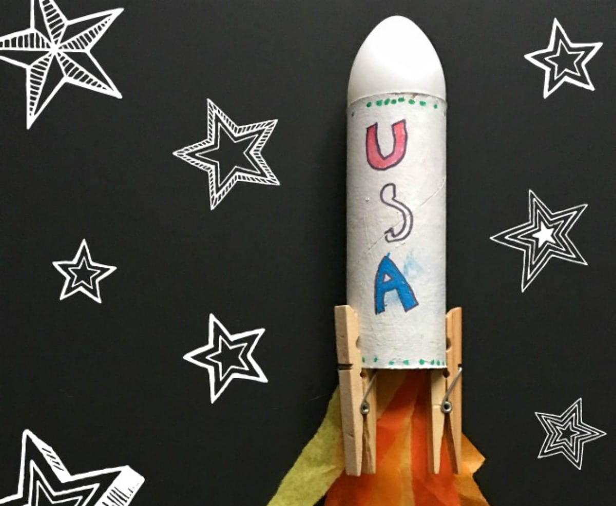 Simple Rocket Space Craft For Kids Using Recycled Materials