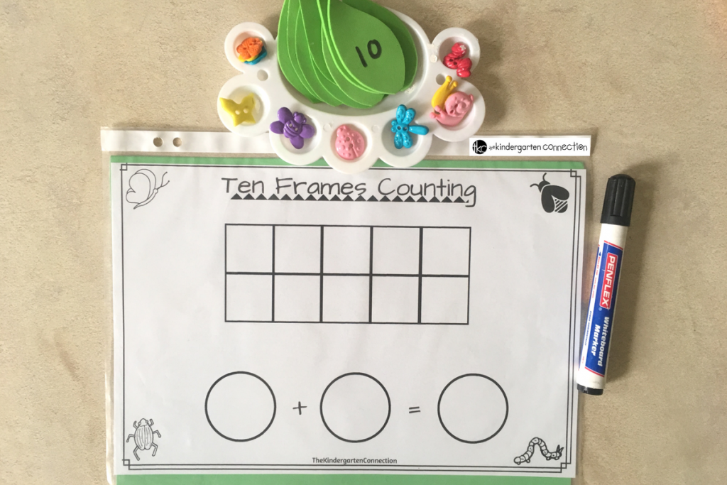 Ten Frame Spring Counting Math Activity