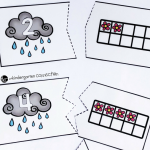 Spring Ten Frame Counting Puzzles