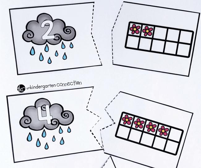 Spring Ten Frame Puzzles