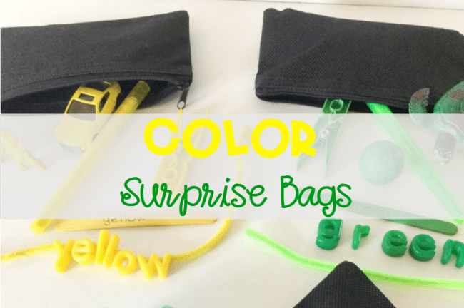 Find out how to create a variety of Color Surprise Bags with items you have on hand! Have fun with this hands-on activity for practicing color recognition! Use in preschool, and kindergarten.