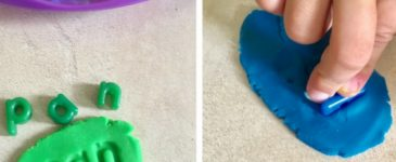 Play Dough Letters Spelling Activity
