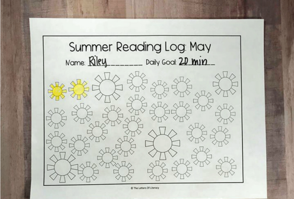 Printable Summer Reading Logs For May through September