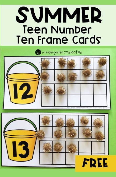 Grab these FREE Summer Teen Number Ten Frame Cards and practice end of year review with your students! Your students will have enjoy the fun summer theme!