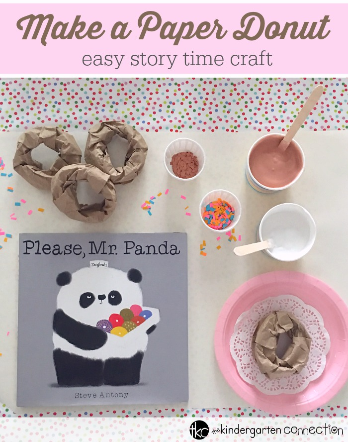 Make a Paper Donut Craft, easy story time craft for pre-K and Kindergarten!