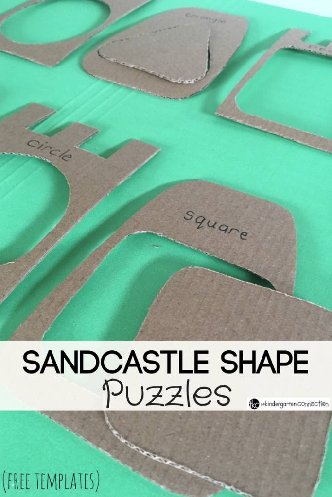 Grab this FREE template to make DIY Sandcastle Shape Puzzles! Children will have fun using these summer-themed shape puzzles. Frugal and easy assembly!