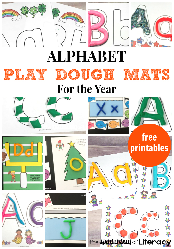image about Free Printable Playdough Mats named Totally free Alphabet Perform Dough Mats for Literacy in just the Clroom!