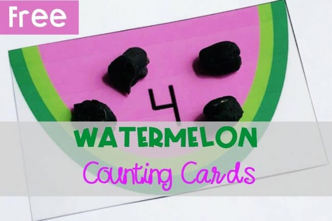Watermelon Counting Cards, FREE Printable for Summer