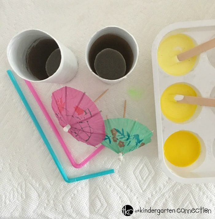 Lemonade Summer Craft for kids, uses recyclable materials!