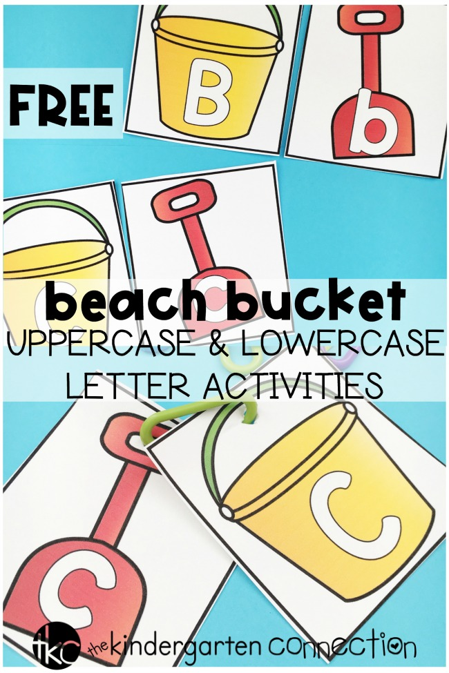 These free Beach Bucket Uppercase and Lowercase Letter activities can be used for some beach themed summer fun and are perfect for Pre-K and Kindergarten!