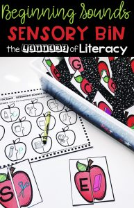 Back to School Sensory Bin and Printables, free