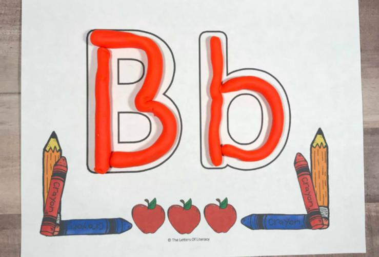Back to School Alphabet Play Dough Mats