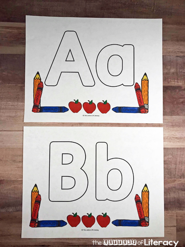 Back To School Alphabet Play Dough Mats - Full Alphabet including Upper and Lowercase Letters With Alternate Activity Ideas! The perfect activity for the first week of school!!