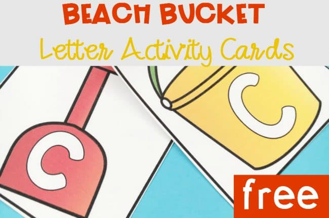 FREE Beach Bucket Uppercase and Lowercase Letter Activities! These printable alphabet cards