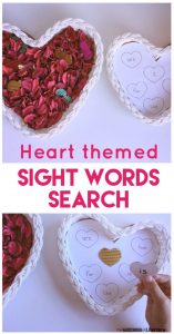 Valentine's Day Sight Word Sensory Bin