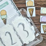Ice Cream Scoop Counting Sensory Activity FREE Printables