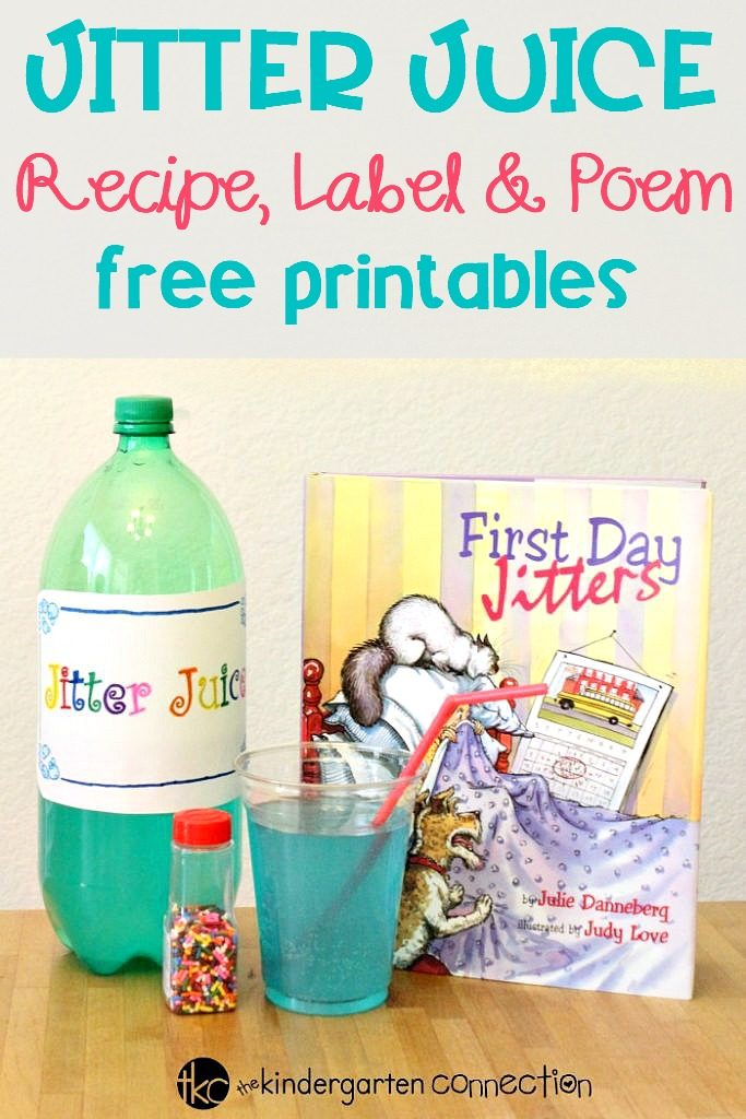 image about Jitter Glitter Poem Printable identify Jitter Juice Recipe With Free of charge Printable Poem for Back again towards College or university