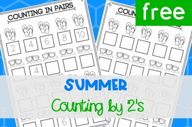 Summer Counting by 2's Activity