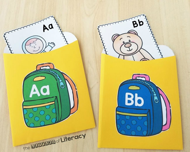 Back to School Beginning Sound Sort Activity, for Kindergarten. Perfect for ABC centers, small groups and partner work.