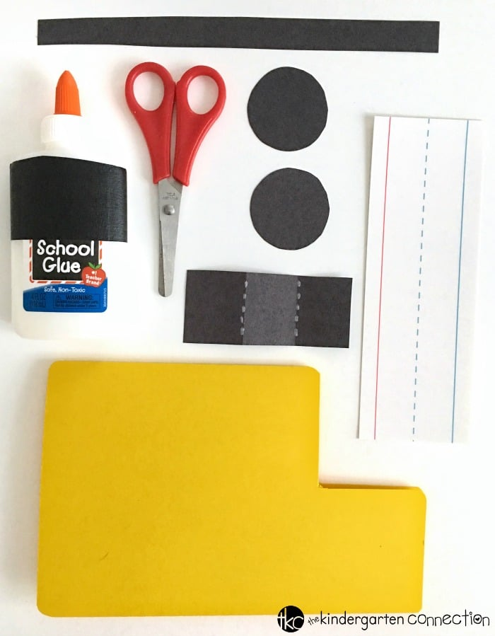 First Day of School Craft for Kindergarten! Just a few supplies you already have on hand. Create an adorable schoolbus keepsake craft.