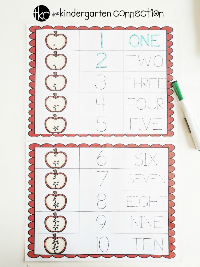 Apple Seed Counting Activity Pack for pre-K and Kindergarten, free math printable perfect for fall