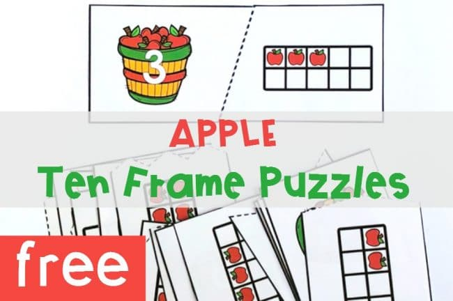 Apple Ten Frame Puzzles