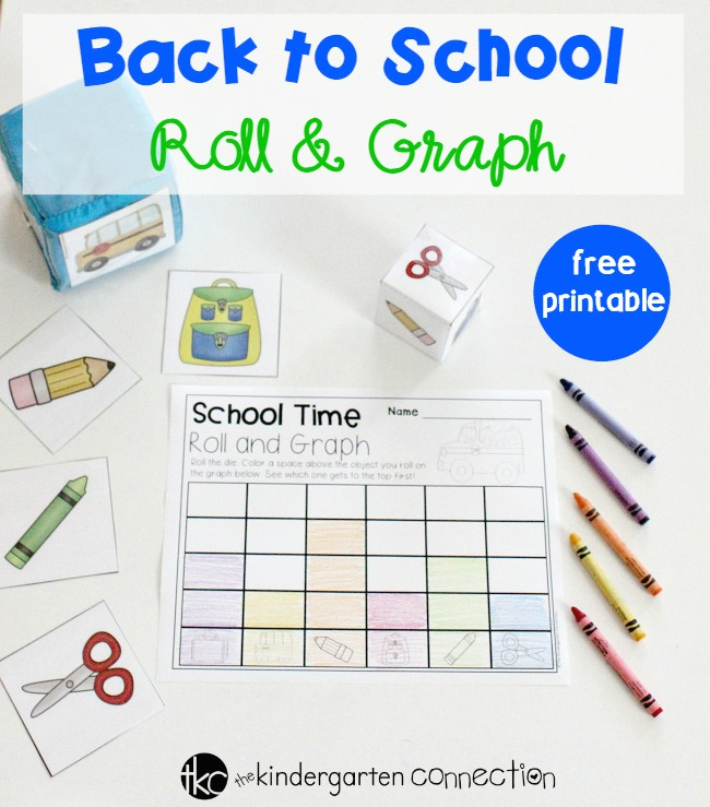 Back to School Roll & Graph Math Activity