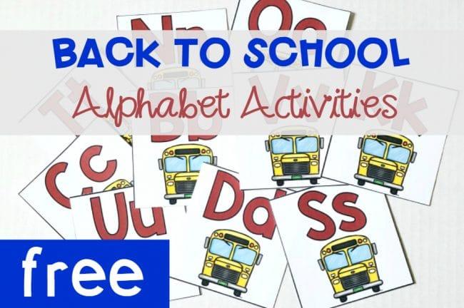 BacktoSchoolAlphabetActivitiesFlashcards, free printable