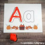 Fall Alphabet Play Dough Mats