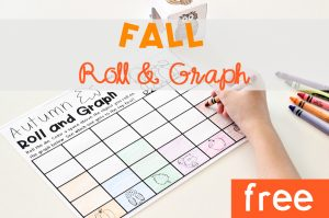 Fall Roll and Graph Math Activity FREE Printable