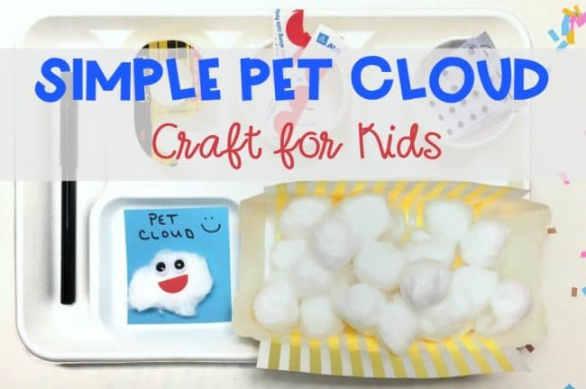 Simple Pet Cloud Craft for Kids